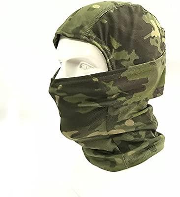 WorldShopping4U Camuflaje Ninja pasamontañasTactical Airsoft Caza al aire libre Máscara protectora de rostro completo