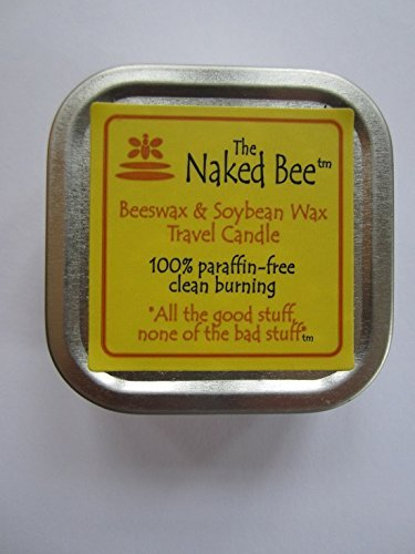 5.5 Ounce Soy Candle (The Naked Bee Beeswax & Soybean Wax Travel Candle 100% Paraffin Free 5.5oz by The Naked Bee)