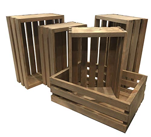 (Rustic Nesting Wood Crates Set of 5 Made in the)