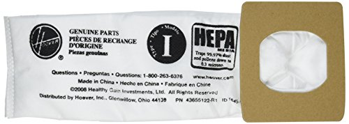 Hoover Paper Bag, Hoover Type I Platinum Hepa (Pack of 2)
