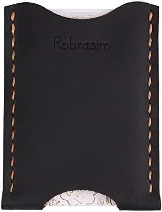 Robrasim Leather Card Wallet - Handcrafted Leather Card Holder - Ultra Slim Front Pocket Wallet