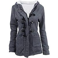 FUDYNMALC Women Autumn Winter Thicken Full Fleece Cotton Hooded Coat Pea Jacket Keep Warm Long Slim Parka Clasic