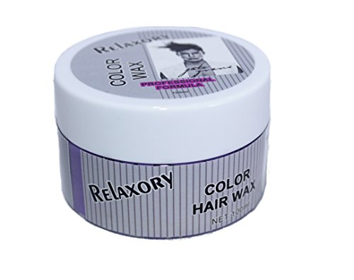 Relaxory Temporary Color Hair Wax Molding Clay Gery White Purple Gold Blue Pink For Men Girl Party (Grey)