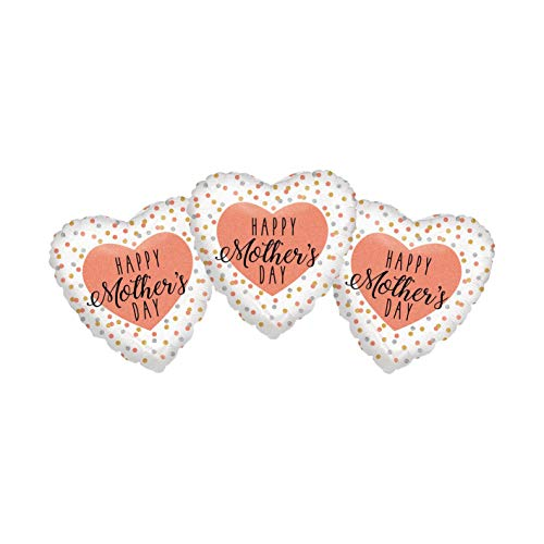 Set of 3 Happy Mother's Day Pink and Gold Polka Dot Design 18