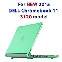 """mCover Hard Shell Case for 11.6"""" Dell Chromebook 11 3120 series Laptop released after Feb. 2015 with 180-degree LCD hinge (NOT compatible with 2014 original Dell Chromebook 11 210-ACDU series)(Green)"""