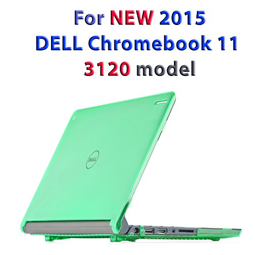 iPearl mCover Hard Shell Case for 11.6 Dell Chromebook 11 3120 Series Released After Feb. 2015 with 180 Degree LCD Hinge (NOT Compatible with Dell C11 210-ACDU, 3180, 3189 Series) (Green)
