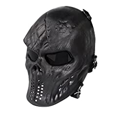 It's a tactical airsoft skull full face mask that you can rely on.  To ensure a happy and satisfying purchase for buyer, we especially inspect straps, buckles and the pegs that the strap hooks onto. Comfortable:  Approximately L 29.5 * W 21 c...