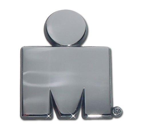 """Ironman """"I.M."""" Premier Metal Auto Emblem - Chrome Color"""