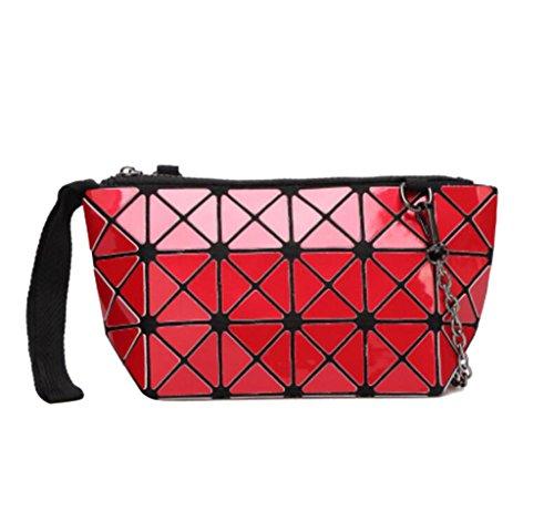 ragazza geometrica moda tracolla 24L 24L tracolla cosmetica a Rosso 8 13CM dimensioni per 13cm Colore 8 pieghevole a fashion Borsa Pnz8cvqII
