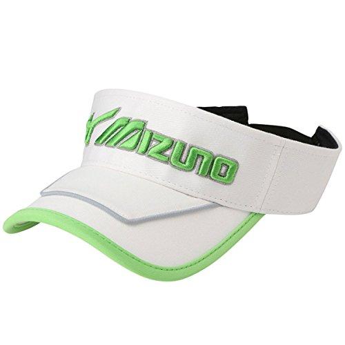 ミズノ MIZUNO 帽子 Boaサンバイザー 52MW7022 ホワイト/セーフティイエロー フリー