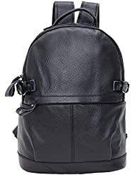 Sulandy Women Genuine Cow Leather Daily Casual Backpack Handbag