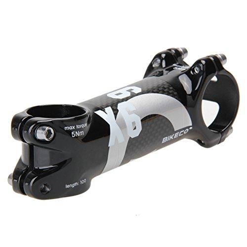 (Domybest Bikeco Handlebar with 3K Carbon Fiber Ultralight Stem (Gray) (100mm))