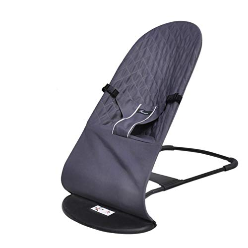 Fivtyily Baby Rocking Chairs Lounger Balance Swings Bouncers Adjustable for 0-10 Months Baby (Grey)