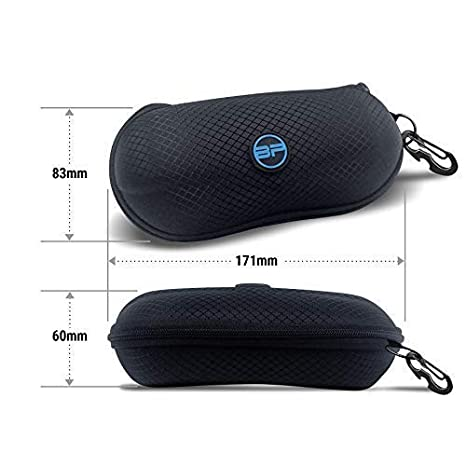 298a2661b447 BLUPOND Semi Hard EVA Glasses Case with Hanging Hook 5 IN 1 Set for Sports  Sunglasses at Amazon Men s Clothing store