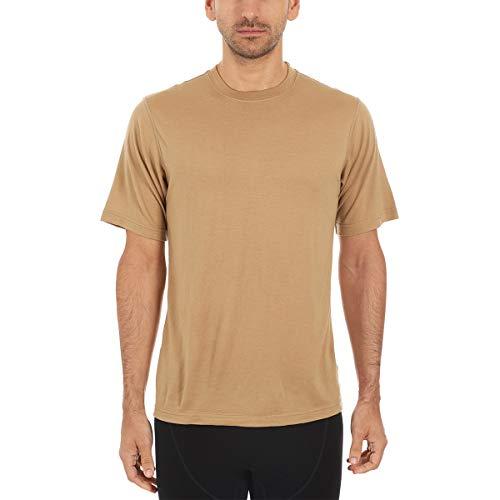 Minus33 Merino Wool Clothing Men's Algonquin Lightweight Wool S/s Crew, Desert Sand, Medium