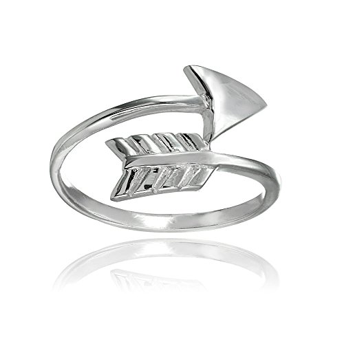 Sterling Silver High Polished Arrow Wrap Ring, Size 6 (Arrow Wrap Ring)