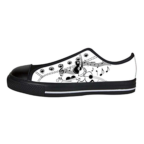 Dalliy Music Note And Guitar Mens Canvas shoes Schuhe Lace-up High-top Sneakers Segeltuchschuhe Leinwand-Schuh-Turnschuhe A