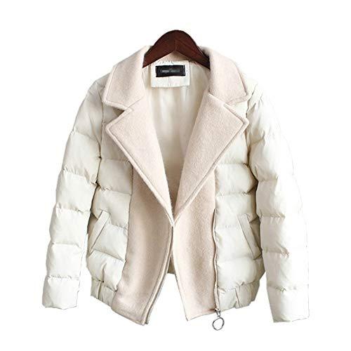 In Inverno Ayguste Cotone Giacche Cappotti Imbottito Breve Caldo Donna Bianca Parka fddS8w