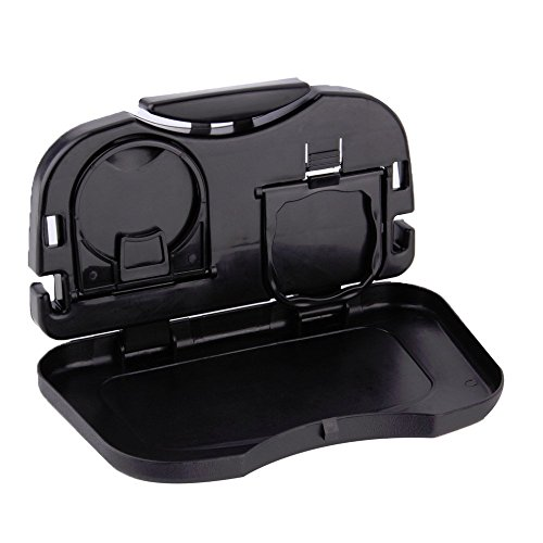 theGizmoMart Folding Car Auto Back Seat Table Drink Food Cup Tray Holder Stand Desk (Black) (Folding Food Tray For Car compare prices)