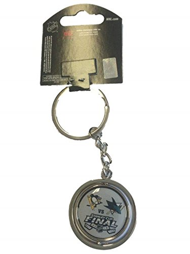 Pittsburgh Penguins San Jose Sharks 2016 NHL Stanley Cup Final Spinner Keychain