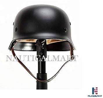 Negro WW2 alemán Elite Wh ejército casco de acero stahlhelm negro