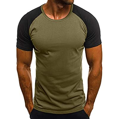FONMA Fashion Men's Casual Slim Camouflage Printed Short Sleeve T Shirt Top Blouse