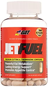 GAT Jetfuel Premium Cutting & Thermogenic Compound Dietary Supplements (Pack of 144 Oil-Infused Capsules)