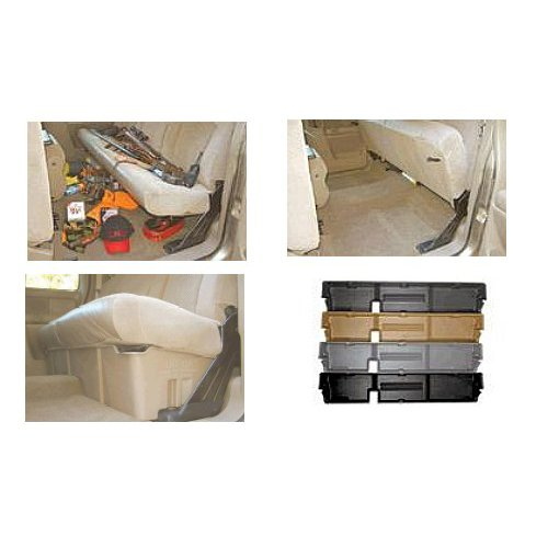 Du Ha Truck Cab Storage Unit For - Chevrolet - Silverado - 2000-2007 - Black - HD Crew Cab, (07 Classic Model only) Fits Behind-the-Seat