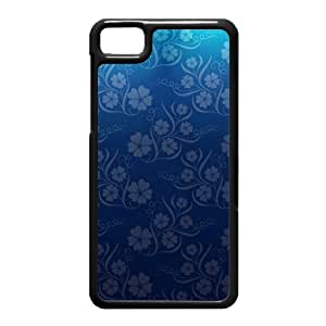 Black Berry Z10 Case,Blue Flowers High Definition Wonderful Design Cover With Hign Quality Hard Plastic Protection Case