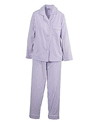 National Flannel Pajamas, Lilac, Small - Misses LongSleeve Flannel