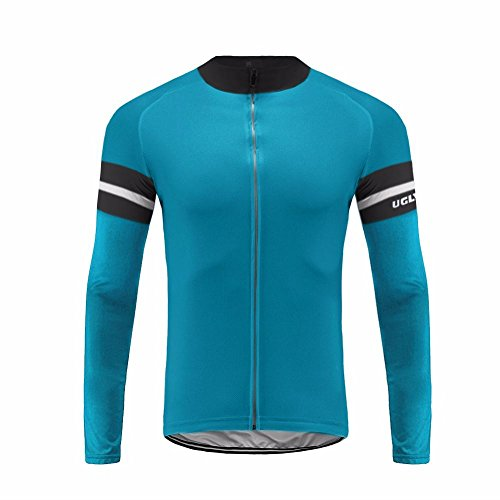 Uglyfrog Designs Men's Bicycle Shirts Long Sleeve Biker Jerseys Full Zipper Winter Warm Fleece Cycling Gear Breathable