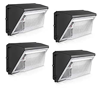 Image of 120W LED Wall Pack Light 4 Pack 5000K 12000 LM IP65 waterproof ETL&DLC Listed Home Improvements