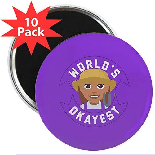 CafePress World's Okayest Farmer 2.25 Magnet (10 Pack) 2.25