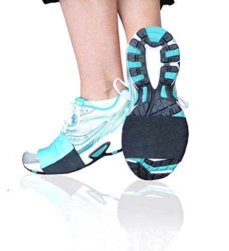 Turquoise - Carpet Dancers TM for Shoes to Glide on Carpet - Latest Stylish Accessory in Workout Footwear - Dance in Sneakers and Protect Knees - Money Back Guarantee - By Slip-On Dancers ®