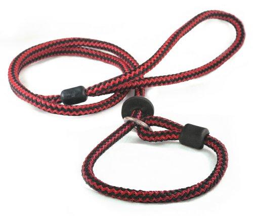 Outhwaite Harlequin Laisse lasso pour chien Rouge/noir 117cm x 9mm