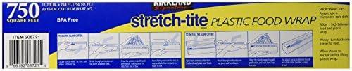 Kirkland Signature Stretch-Tite Plastic Wrap - 11 7/8 x750 toes - 2 pk