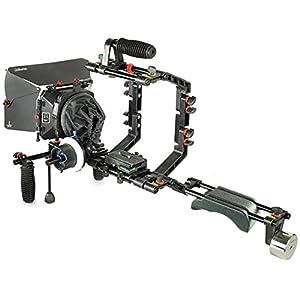 FILMCITY DSLR Camera Cage Shoulder Mount Rig Kit (FC-03) with Follow Focus & Matte box   Shoulder Stabilizer Support for Video DV Camcorder HD DSLR   Best Affordable Kit