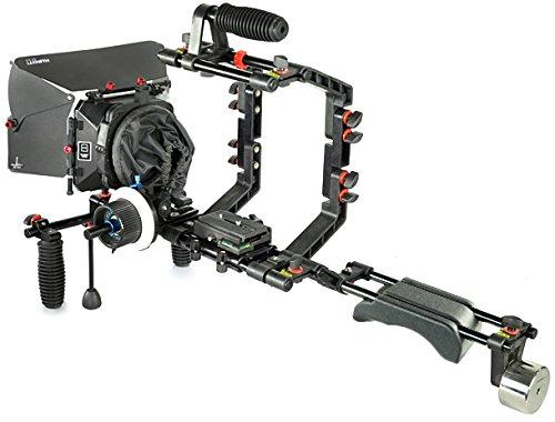 FILMCITY DSLR Camera Cage Shoulder Mount Rig Kit (FC-03) with Follow Focus & Matte box | Shoulder Stabilizer Support for Video DV Camcorder HD DSLR | Best Affordable Kit by FILMCITY
