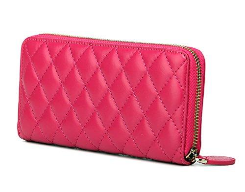 Deerword Womens Handbags Shoulder Bags Handbags Totes Handbags With Leather Handle Red Rose Pink Red