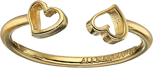 Gold Heart Fashion Ring (Alex and Ani Women's Heart Ring 14kt Gold Plated One Size)