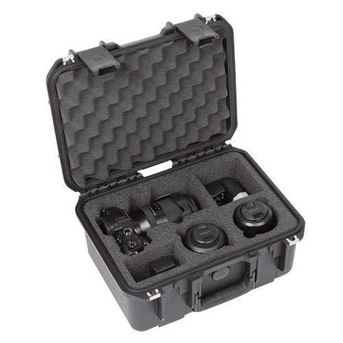 (SKB Cases 3i-13096A73 iSeries 1309 Waterproof Sony A7III Series Case, Ultra High-Strength Polypropylene Copolymer Resin, Molded-in Hinge, Rubber Over-Molded Cushion Grip Handle)