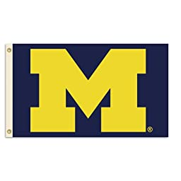 NCAA Michigan Wolverines 3-by-5 Foot Flag With Grommets