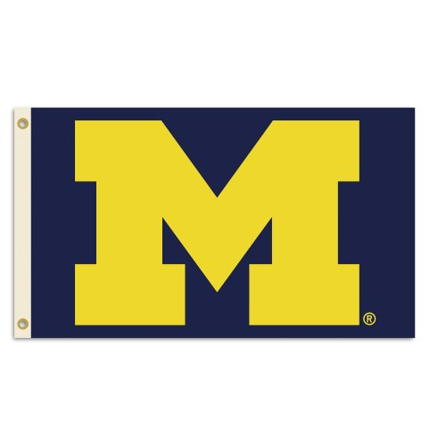 NCAA Michigan Wolverines 3-by-5 Foot Flag With Grommets - Michigan Wolverines Banner