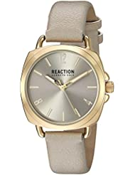 Kenneth Cole REACTION Womens Quartz Metal Casual Watch, Color:Grey (Model: RK50100008)