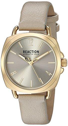 Kenneth Cole REACTION Women's Quartz Metal Casual Watch, Color:Grey (Model: RK50100008)