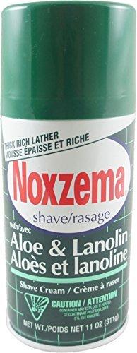 Noxzema Shave Cream Aloe and Lanolin - 11 oz, Pack of 5