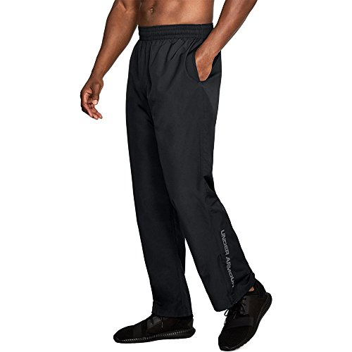Under Armour Men's Vital Warm-Up Pants, Black /Graphite, Large (Track Pants Black)