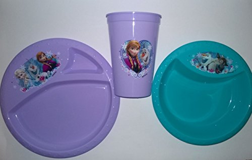 Disney Frozen Mealtime Set- Plate, Bowl, and Cup- Perfect Va