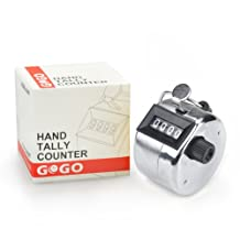 GOGO Tally Counter, Hand Held Counter, 4 Digit Manual Mechanical Click Counter