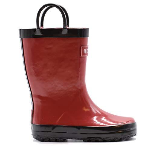 Mucky Wear Children's Rubber Rain Boot, Red/Black, 3Y US Big Kid]()